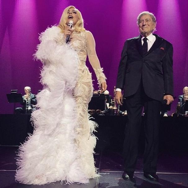 Lady Gaga i Tony Bennett/Instagram: @roberto_cavalli