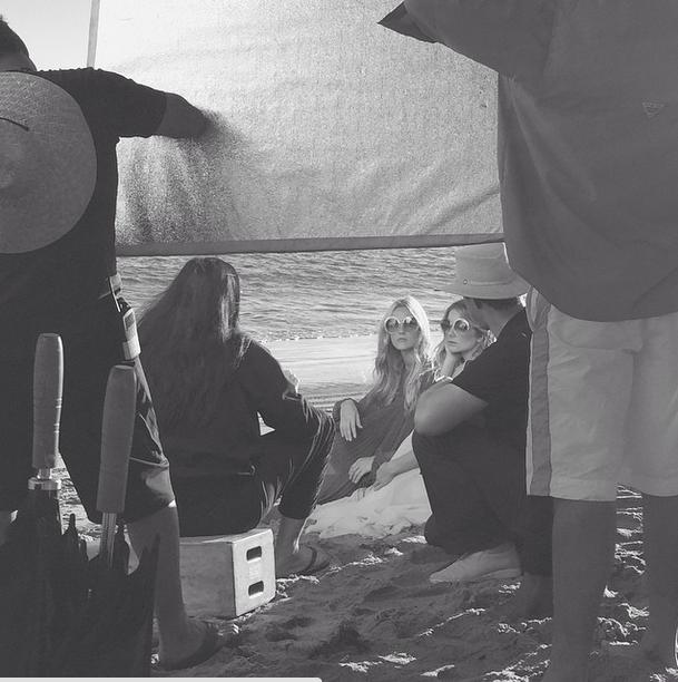 Chloé SS15 backstage/Instagram @chloe