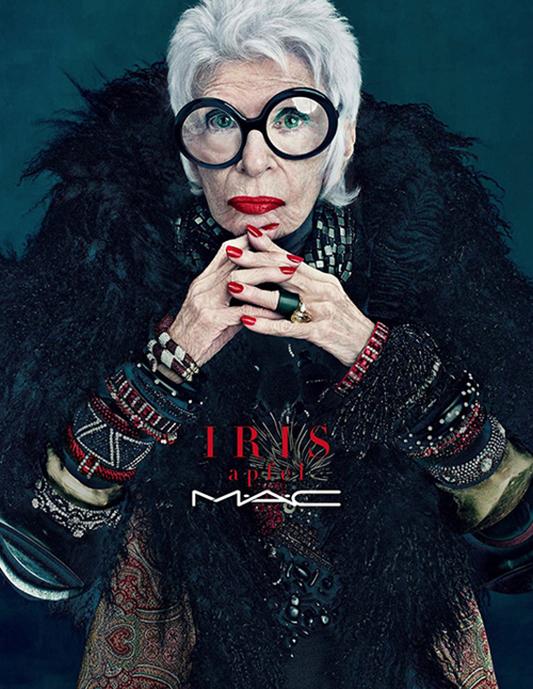 Iris Apfel w kampanii marki MAC/mat. promocyjne MAC