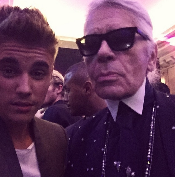 Karl Lagerfeld i Justin Bieber/Instagram@justinbieber