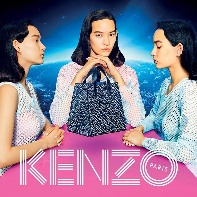 Azjatyckie piękności w kampanii Kenzo s/s 2015/Instagram: @kenzo
