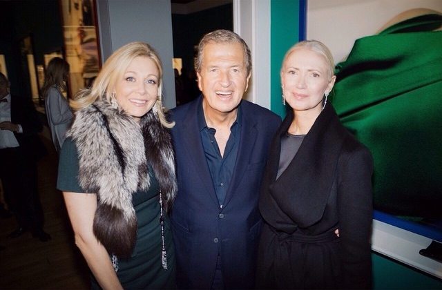 Na zdjęciu: Martio Testino, Nadja Swarovski oraz Christiane Arp/Instagram: @mariotestino