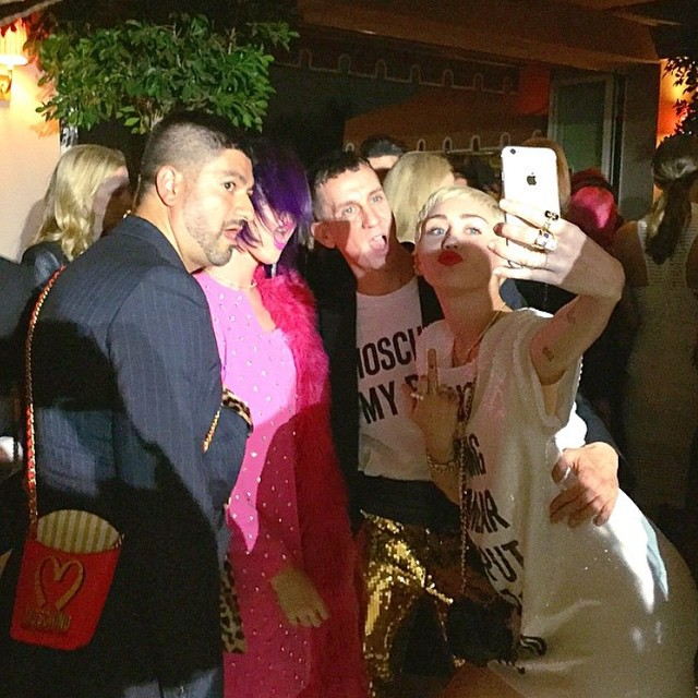 Katy Perry, Jeremy Scott, Miley Cyrus/Instagram: @mileycyrus