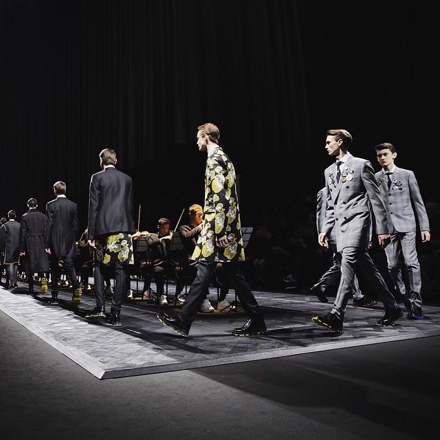 Modele na pokazie Dior Homme f/w 2015/16/Instagram: @dior