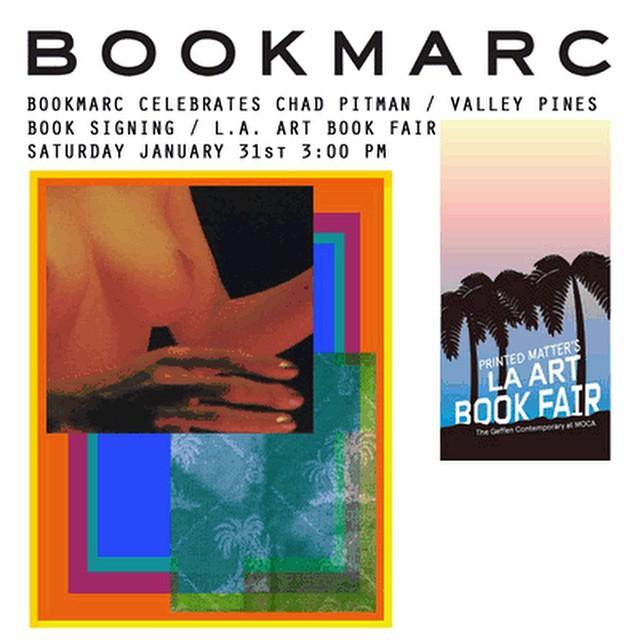 Plakat promujący księgarnięMarc'a Jacobs'a na targach książki z Los Angeles/Instagram: @bookmarcla