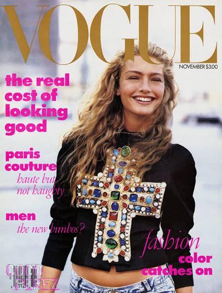 Pierwsza okładka Carlyne Cerf de Dudzeele dla amerykańskiego Vogue'a