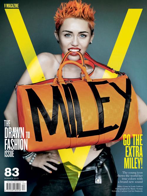 Miley Cyrus w stylizacji Carlyne Cerf de Dudzeele dla V Magazine