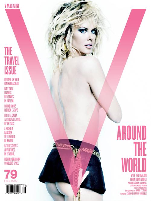 Nicole Kidman w stylizacji Carlyne Cerf de Dudzeele dla V Magazine