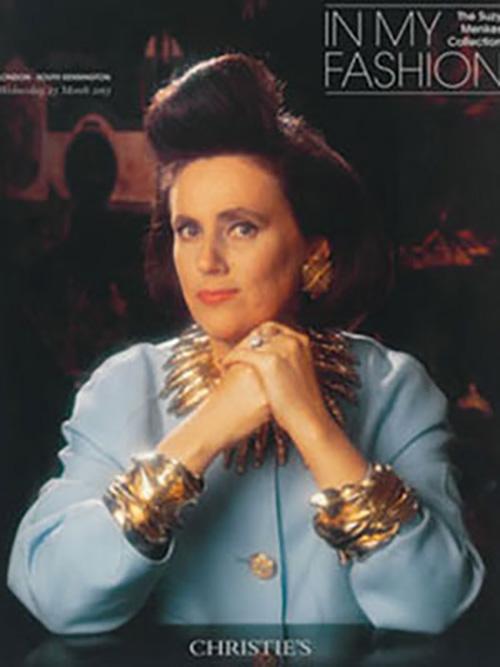 Okładka katalogu Christie's z Suzy Menkes/fot.Karl Lagerfeld