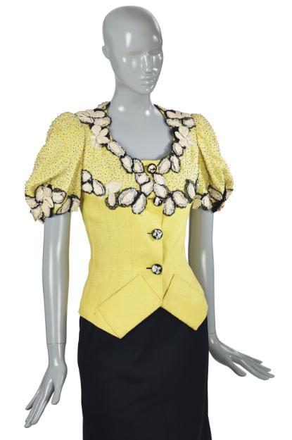 Żółty żakiet z lnu 1940 r. 10 000-15 000 Euro/© Courtesy Condé Nast/Horst Estate