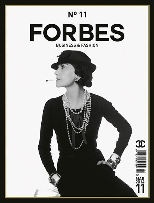 Coco Chanel na okładce magazynu Forbes