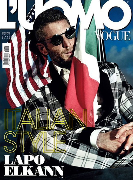 Lapo Elkann na okładce L'uomo Vogue