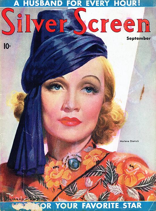 Marlena Dietrich na okładce Silver Screen