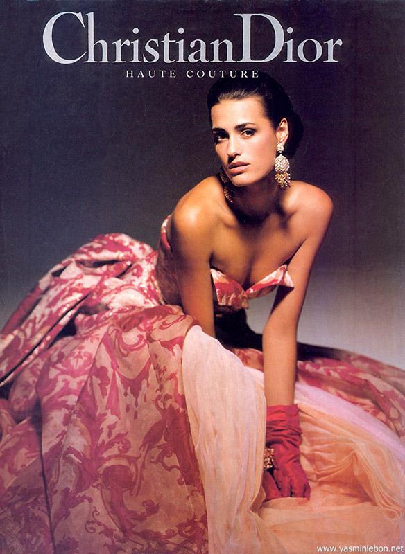 Kampania domu mody Dior z lat 90.
