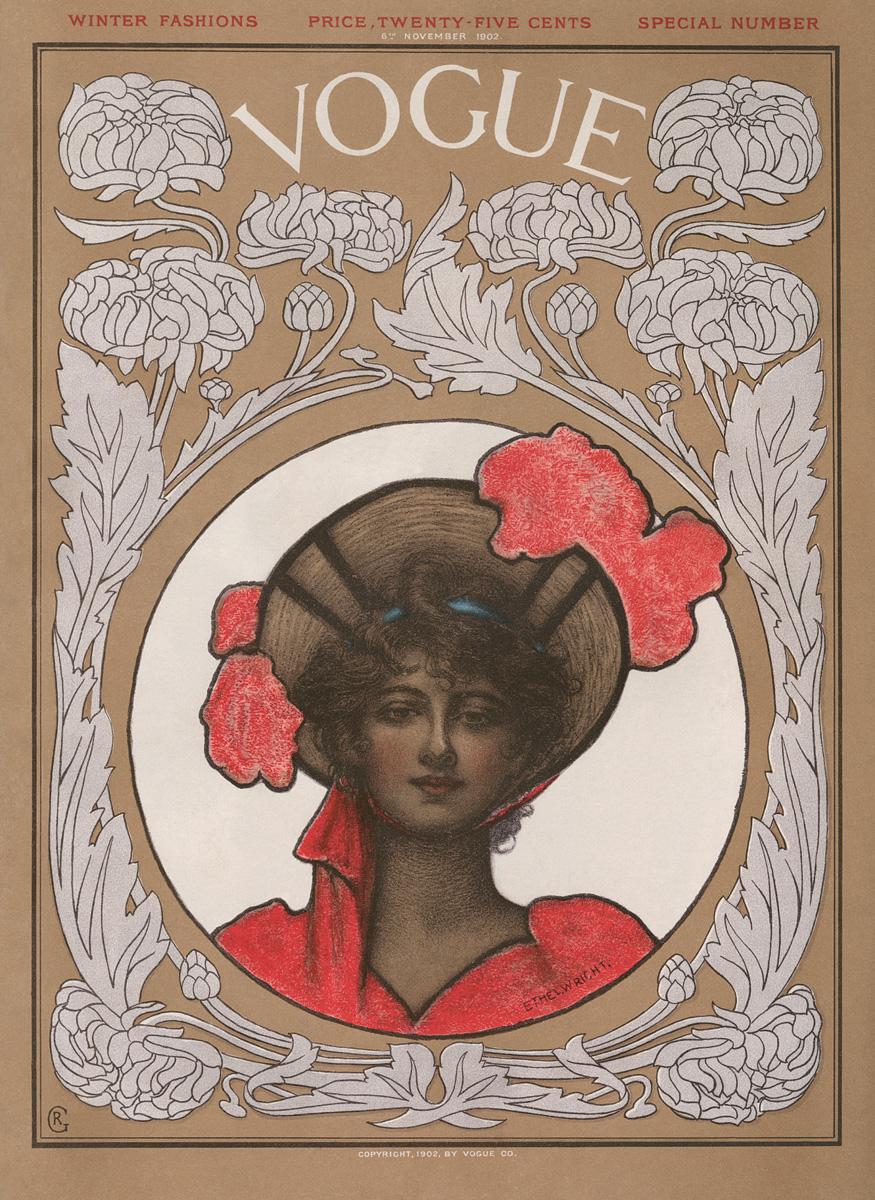 Jedna ze starszych okładek magazynu Vogue - 6. listopada 1902r.