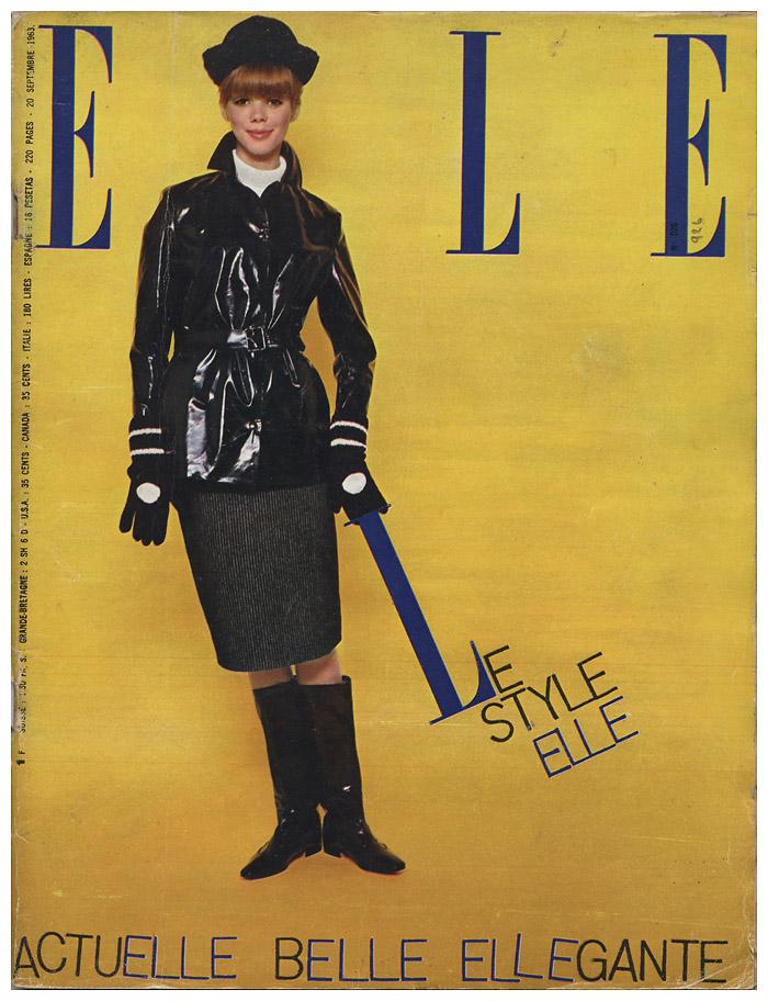 Okładka Elle z września 1963 r.