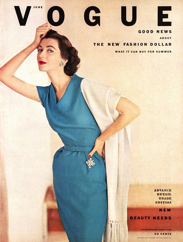 Dovima na okładce Vogue'a z 1952 roku