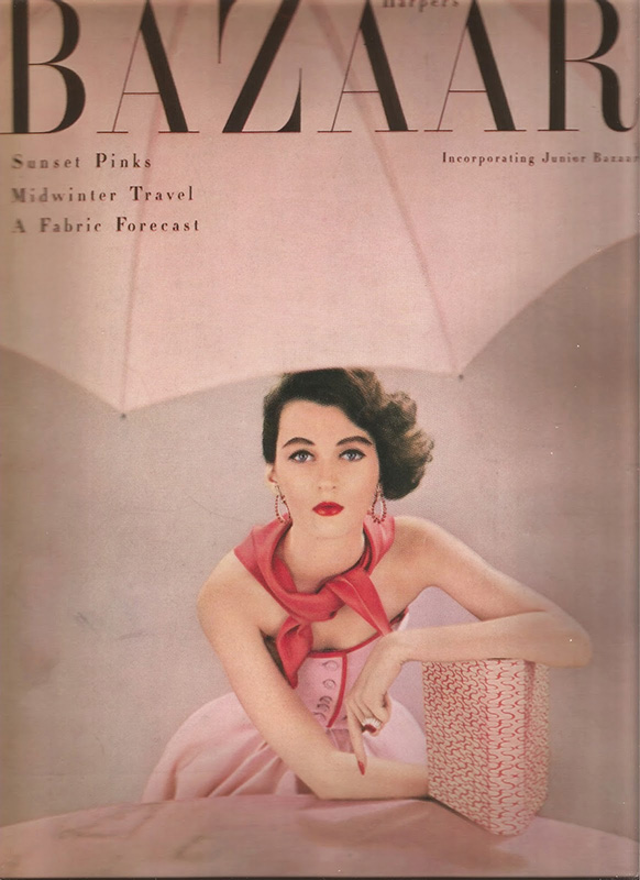 Dovima na okładce Harper's Bazaar z 1951 roku