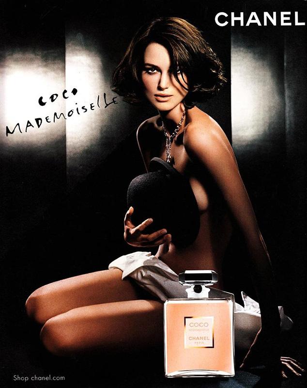 Keira Knightley w kampanii perfum  Chanel Coco Mademoiselle