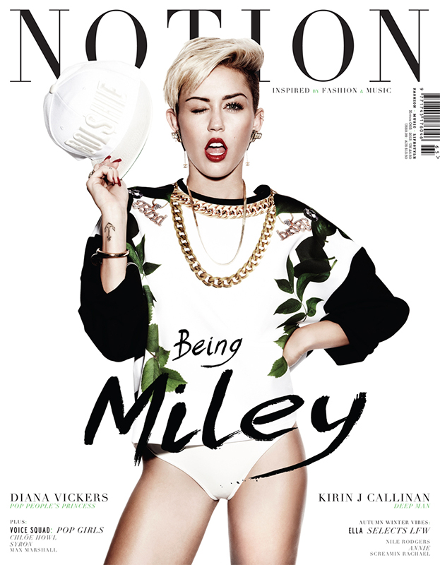 Miley Cyrus  na okładce magazynu Nylon