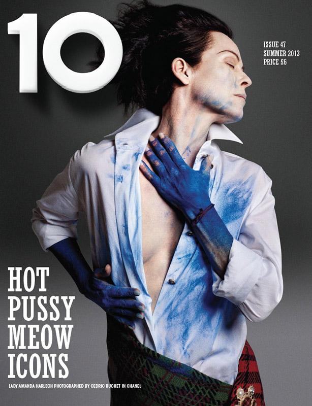 Lady Amanda Harlech na okładce magazynu 10