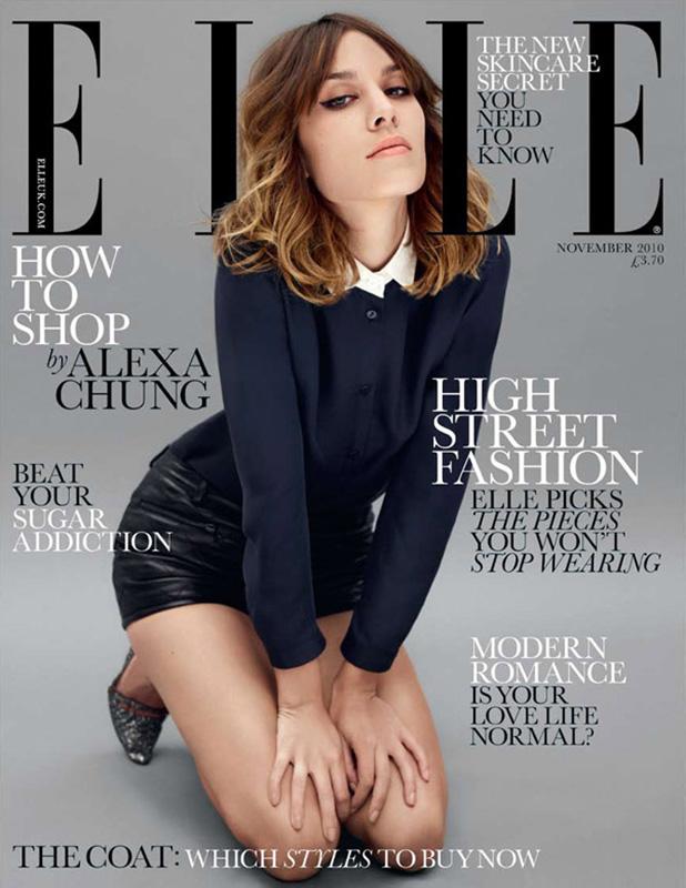 Alexa Chung na okładce Elle UK