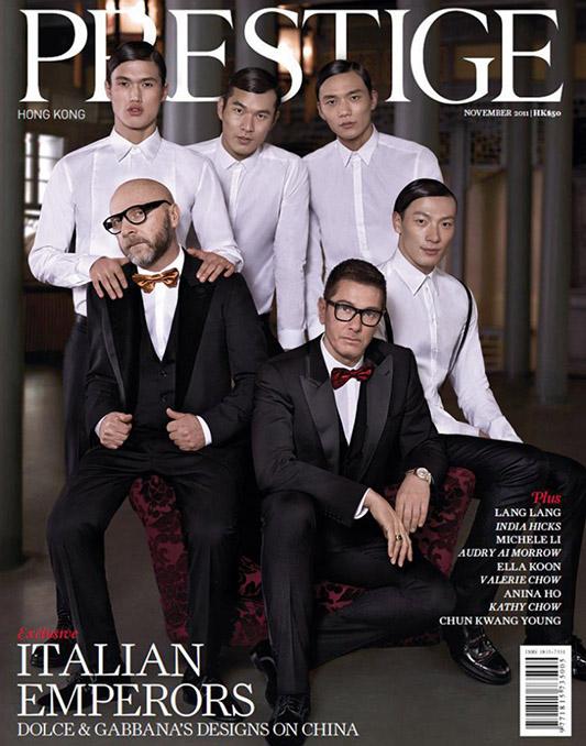 Dolce&Gabbana na okładce Prestige