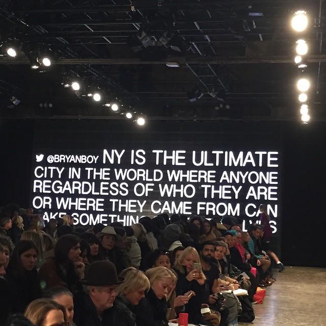 Wypowiedź blogera Bryanboy'ao NY/Instagram: @bryanboy