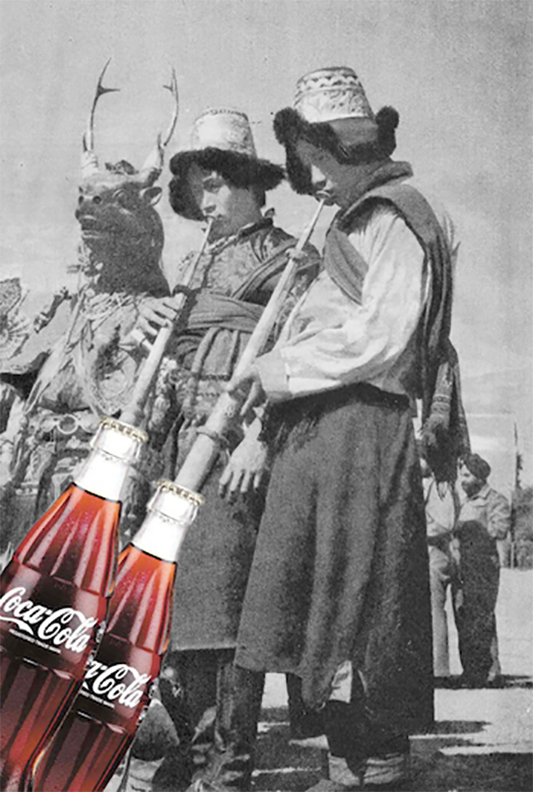 Kolaż z okazji 100-lecia szklanej butelki Coca-Coli /  mat. Agencja D'Vision