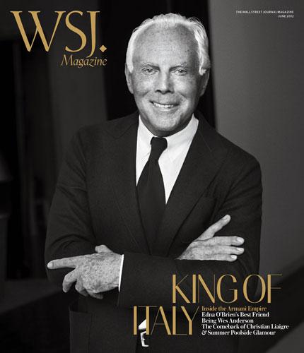 Giorgio Armani na okładce WSJ Magazine
