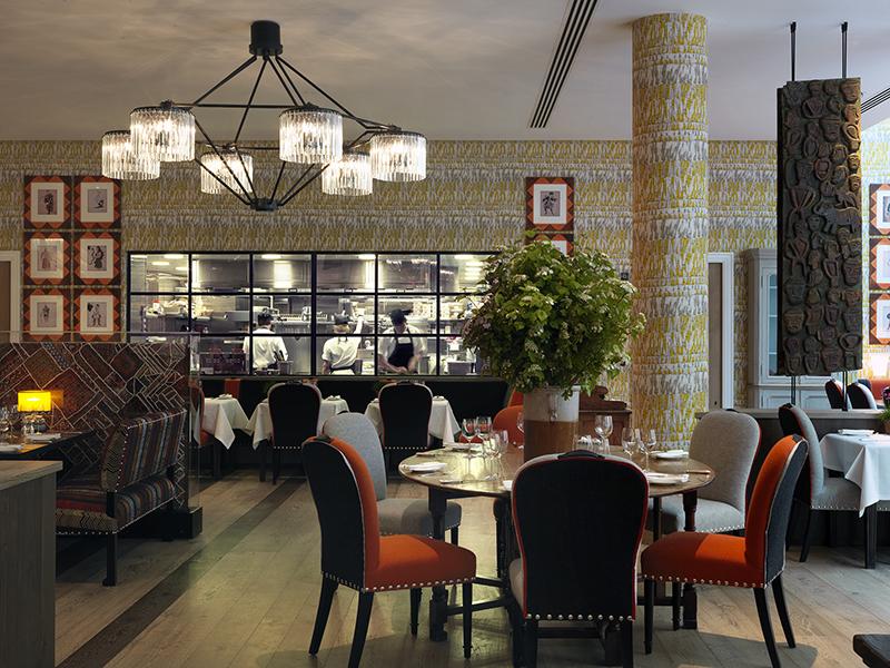 Restauracja w hotelu Ham Yard/mat.prasowe Ham Yard Hotel
