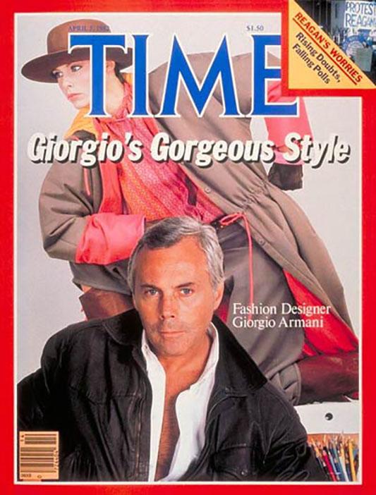 Giorgio Armani na okładce Time Magazine