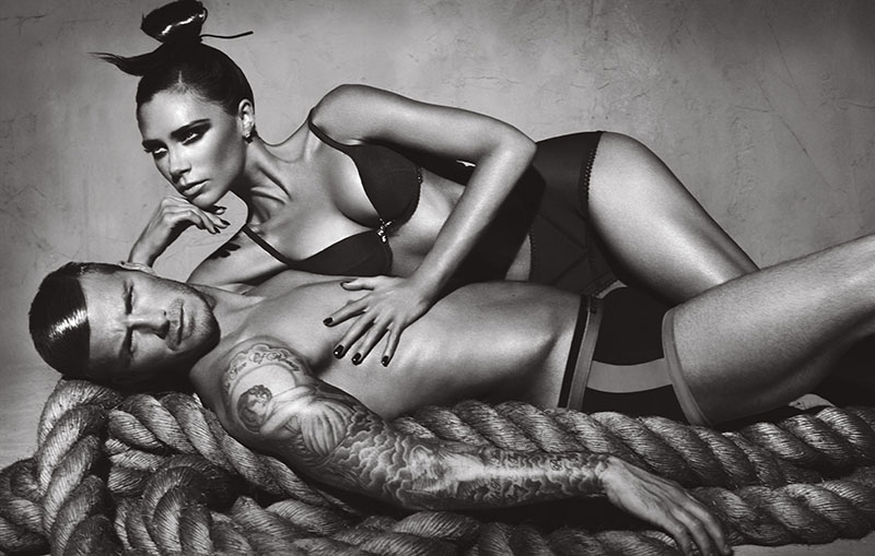 Victoria i David Beckham w kampanii Armani Underwear
