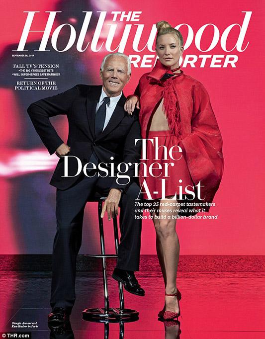 Giorgio Armani na okładce The Hollywood Reporter