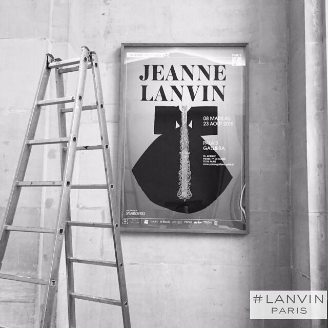 Przygotowania do wystawy/Instagram: @lanvinofficial