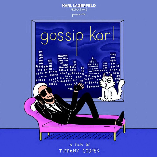 """Plakat nawiązujący do kultowego serialu """"Gossip Girl""""/Instagram: @tiffanycooper_"""
