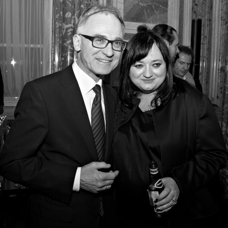 Ambasador Polski we Francji Andrzej Byrt i Gosia Baczyńska/fot. Marek Mulenko