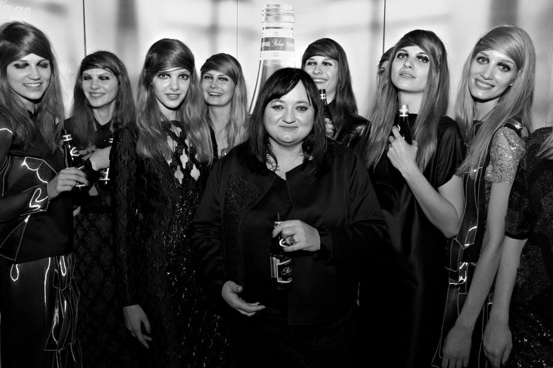Gosia Baczyńska w towarzystwie modelek/fot. Marek Mulenko
