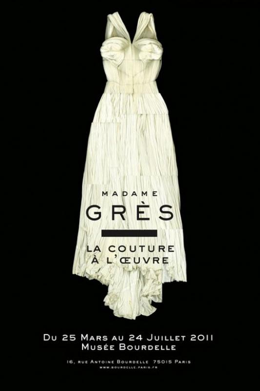 Plakat wystawy poświęconej Madame Grès