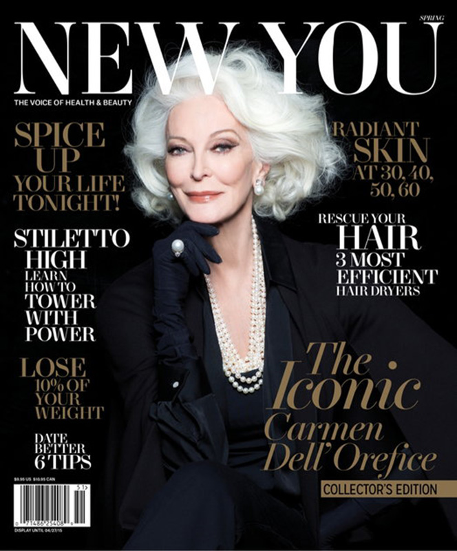 Carmen Dell'Orefice na okładce magazynu New You