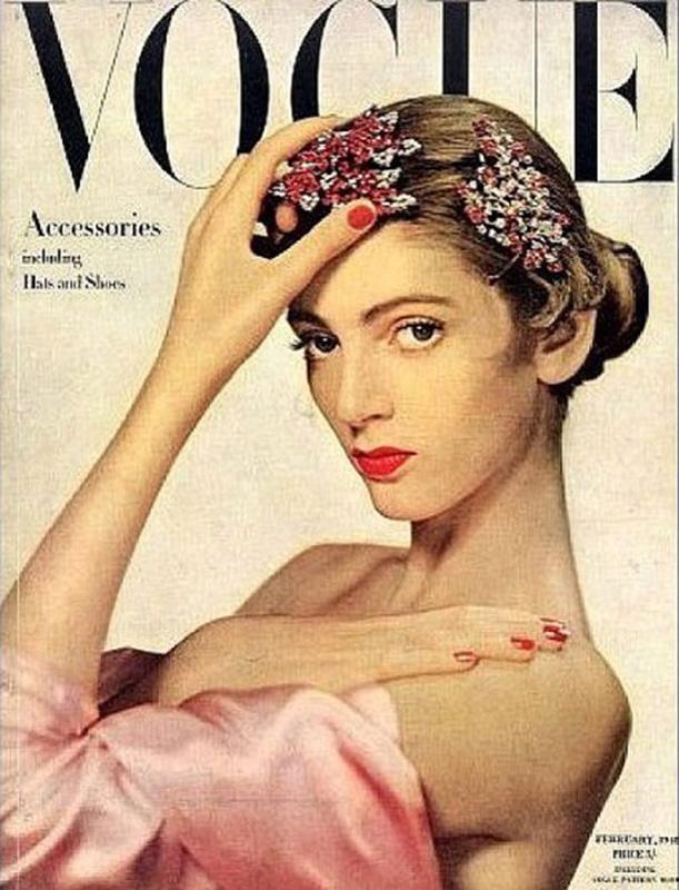 Carmen Dell'Orefice na okładce magazynu Vogue z 1947 roku