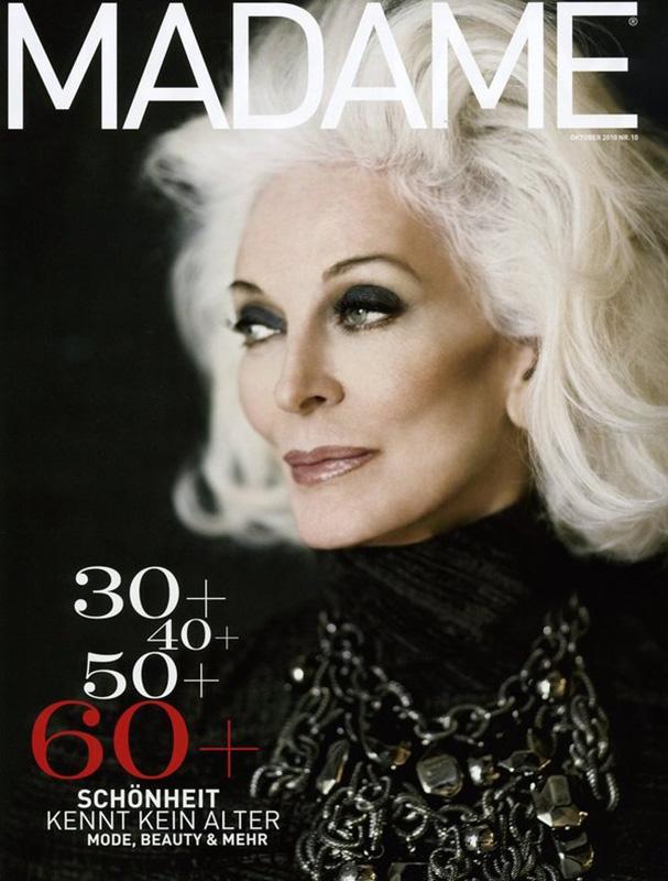 Carmen Dell'Orefice na okładce magazynu Madame