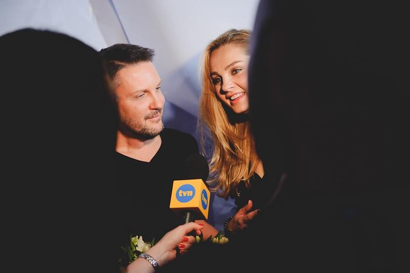 Mariusz Przybylski z Małgorzatą Sochą po pokazie Night Air/fot. Artur Cieślakowski dla DYKF