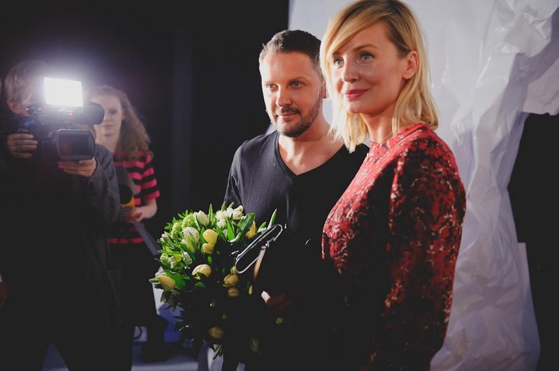Mariusz Przybylski i Agnieszka Szulim po pokazie Night Air/fot. Artur Cieślakowski dla DYKF