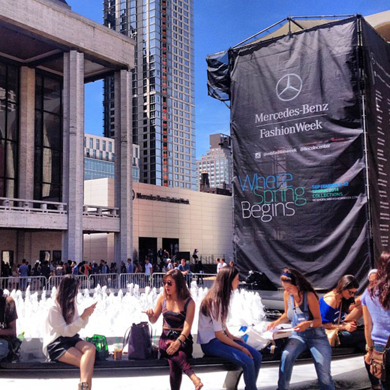 Lincoln Center podczas New York Fashion Weeku/Instagram:@lincolncenter