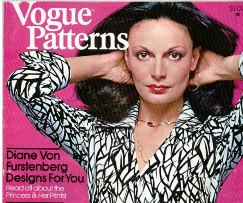 Diane von Furstenberg na okładce magazynu Vogue Patterns