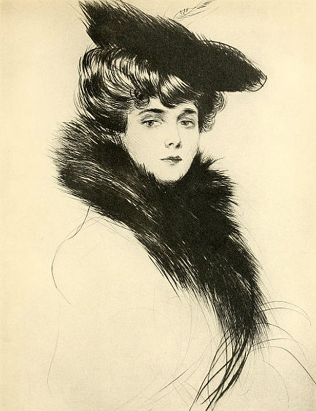 Portret Madeleine Cheruit autorstwa Paula Helleu