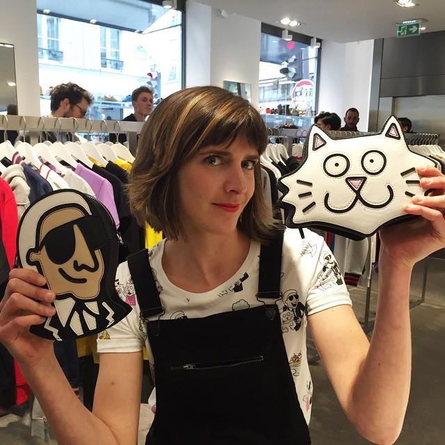 Tiffany Cooper promująca kolekcję w butiku Colette/Instagram: @colette