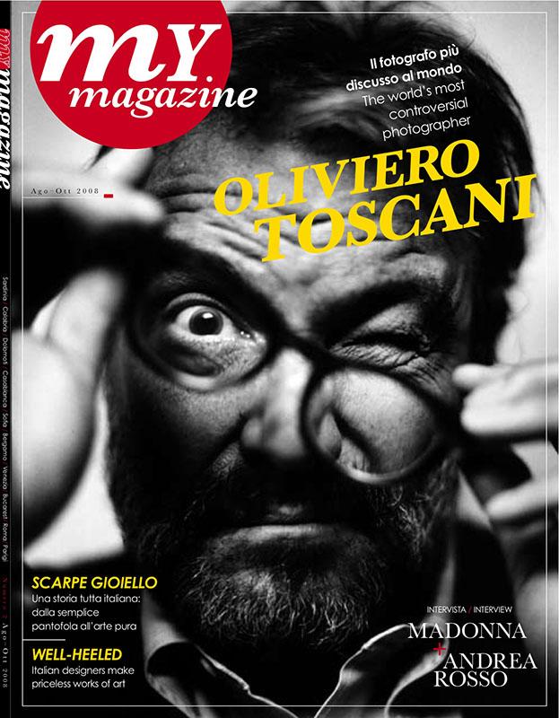 Oliviero Toscani na okładce My Magazine