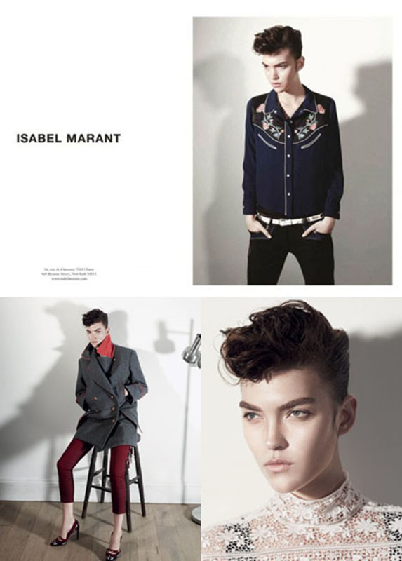 Kampania marki Isabel Marant na sezon jesień/zima 2013 inspirowana stylem rockabilly